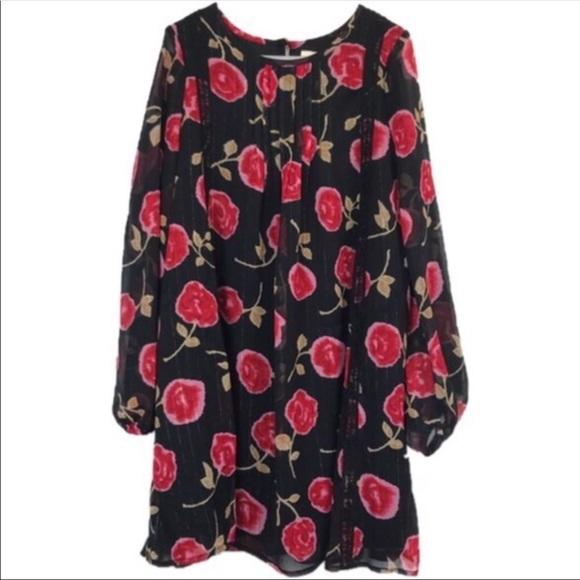 kate spade Other - Kate Spade New York Black Red Floral Dress